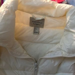 Forever 21 ultra thin puffer long jacket.